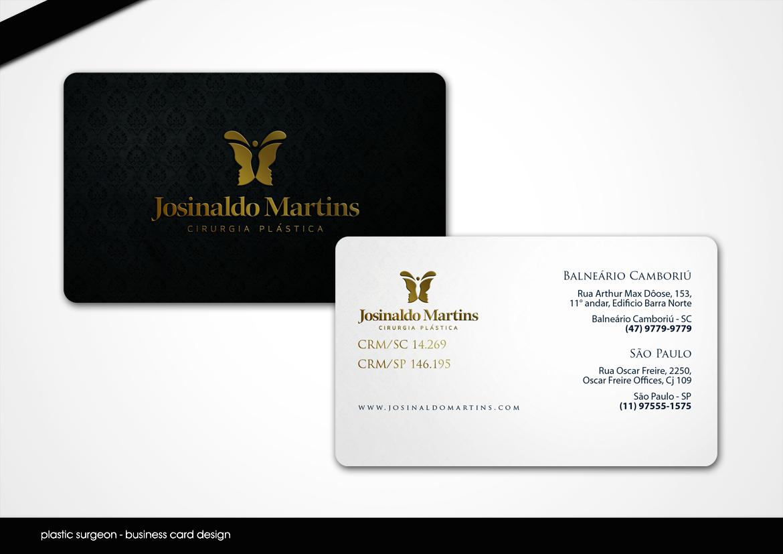 Elegant serious plastic business card design for josinaldo martins business card design by disign for josinaldo martins cirurgia plastica design 3513176 colourmoves