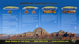 Graphic Design by David - Helicopter Tour Brochures in Sedona, Arizona