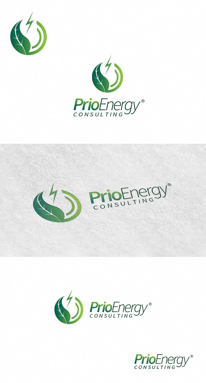 Modern masculine logo design for prio enerji by kolor for Consulting company logo