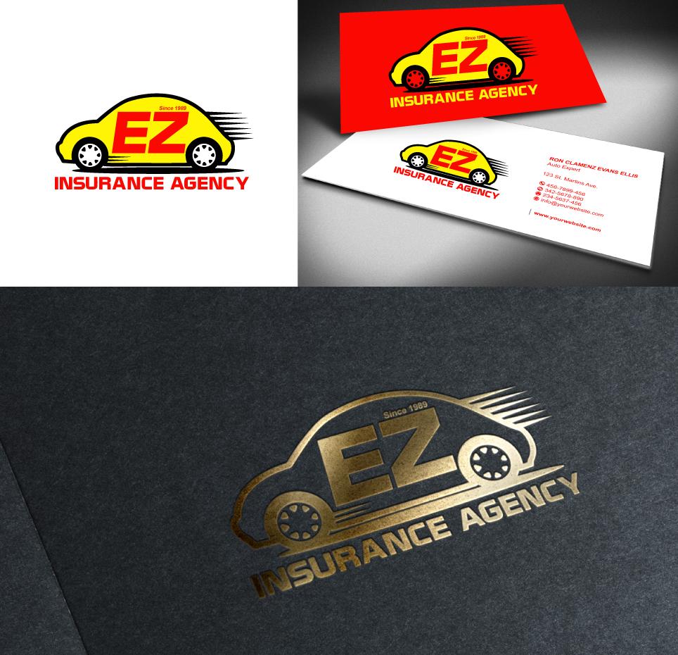 Bold, Playful, Business Logo Design for EZ Insurance Agency by designgreen  Design 3610018