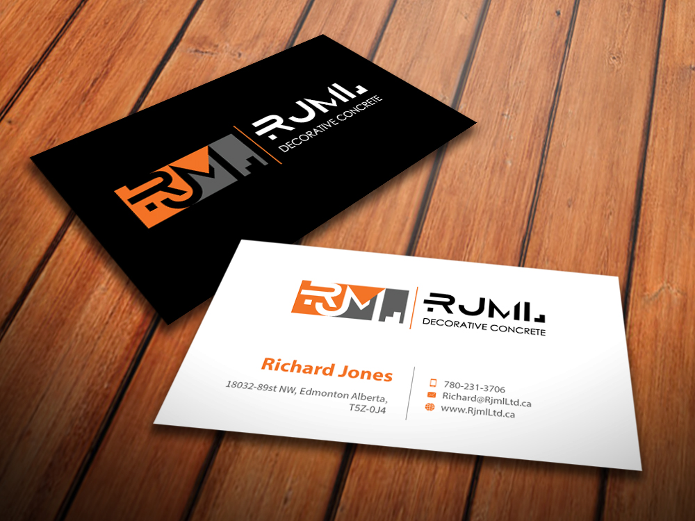 Business Card Design for RJML Decorative Concrete by ...