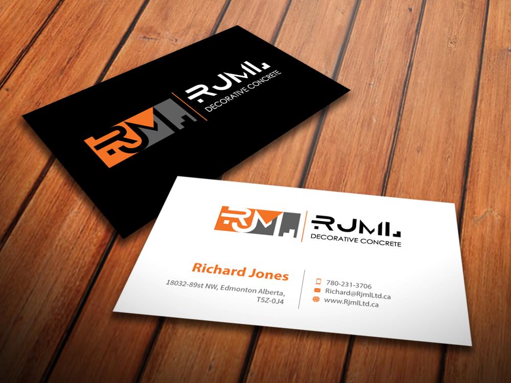 Business Business Card Design for RJML Decorative Concrete by ...