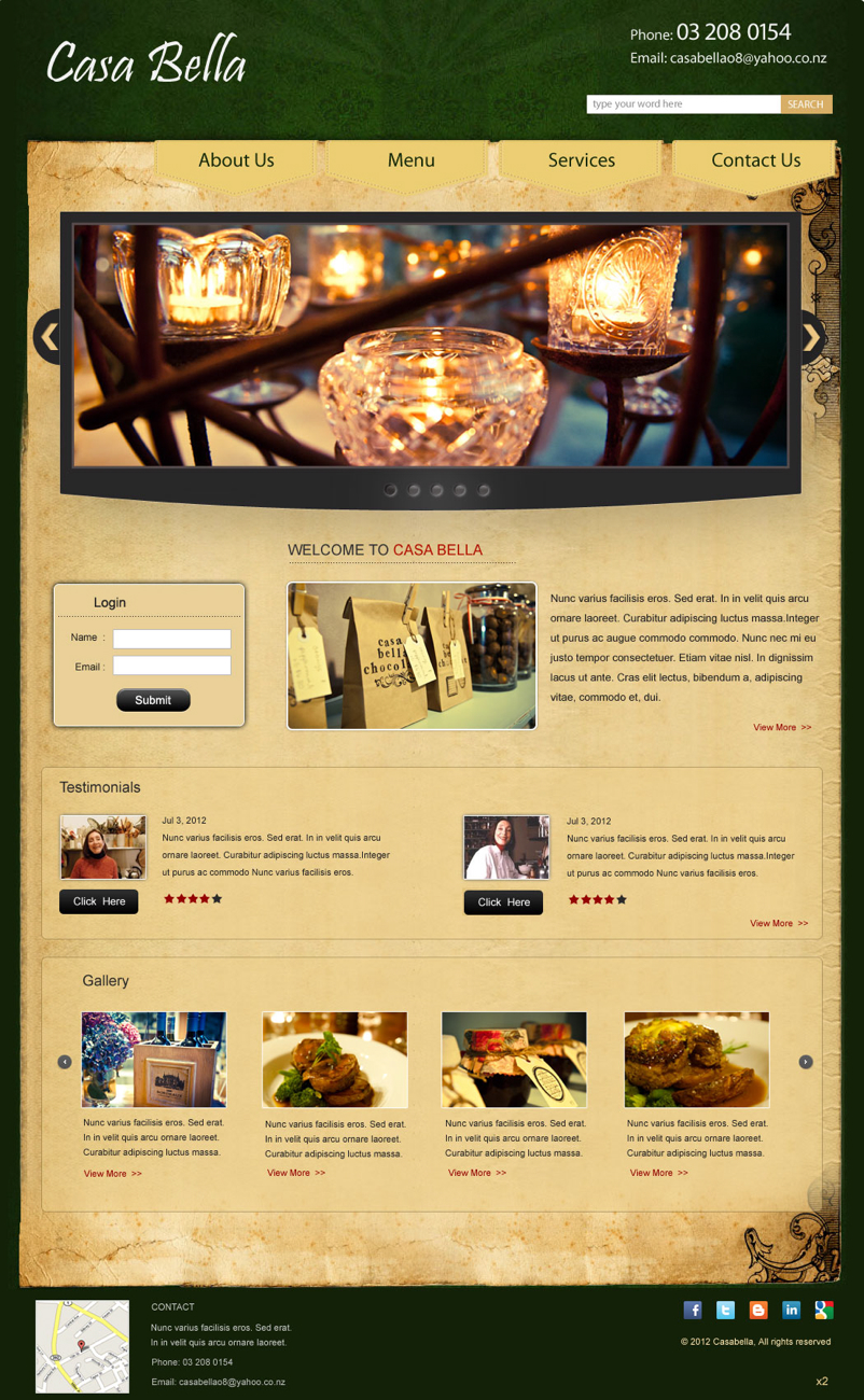 Personable traditional restaurant wordpress design for a