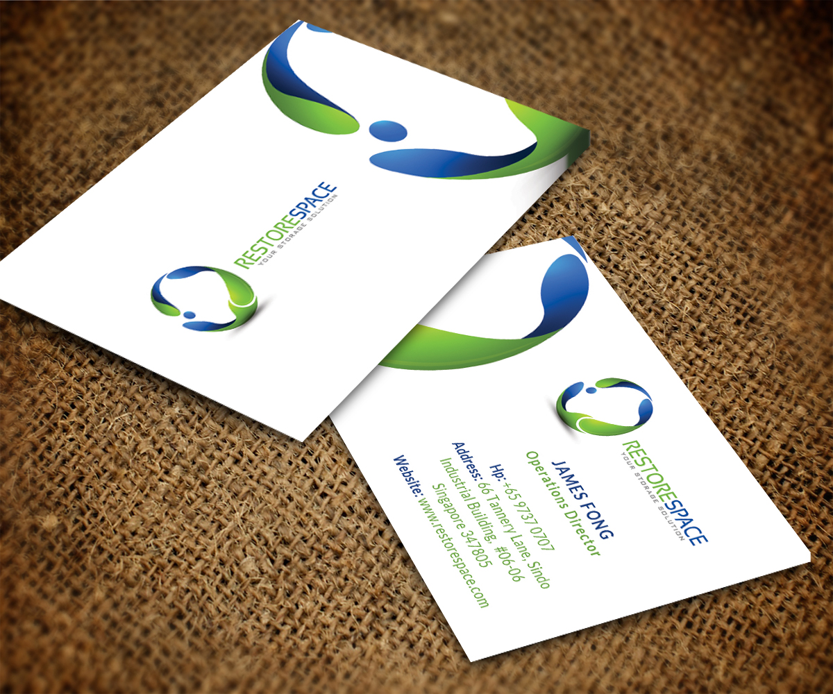 Blue And Green Business Card Designs