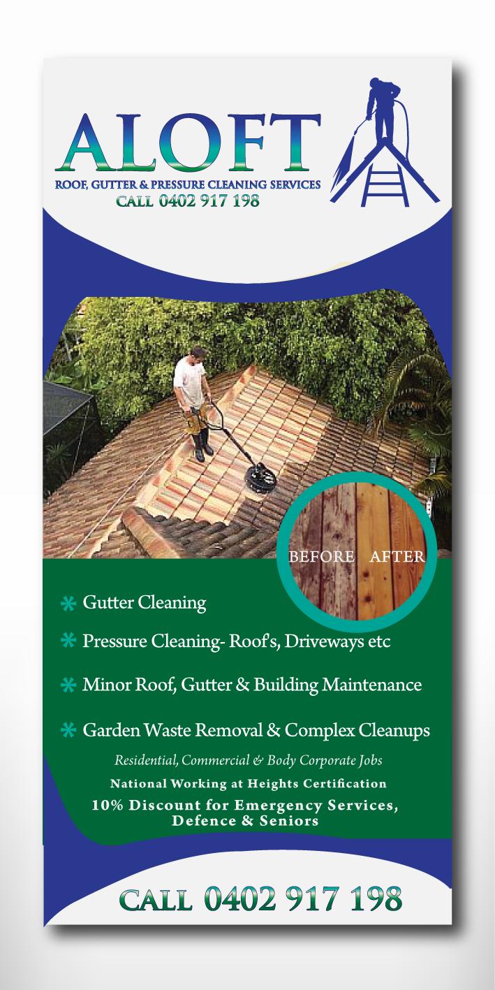 Building Flyer Design For Aloft Roof Gutter Amp Pressure