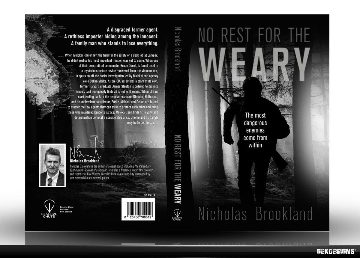Book Cover Black And White Design : Serious masculine book cover design for author by gek