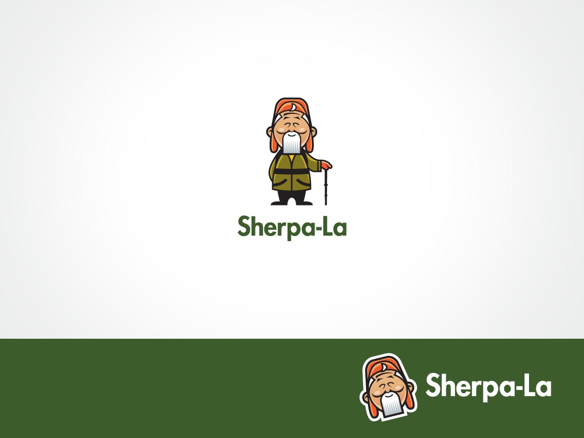 Character Design Logo : Playful personable character design for sherpala by