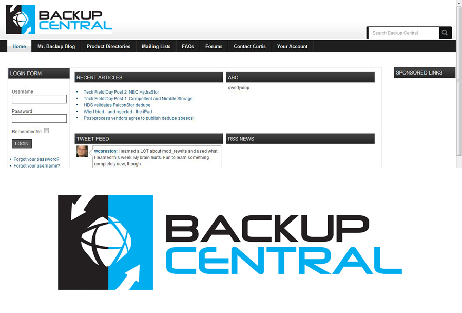 Professional, Serious Logo Design for Backup Central by