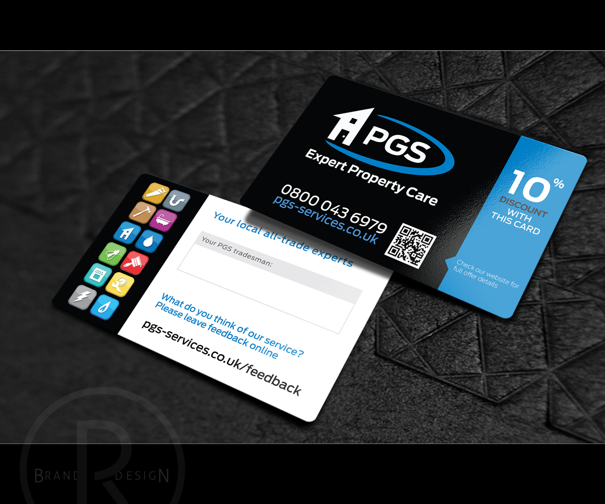 Trade business card design for pgs services ltd by richlha design business card design by richlha for pgs services ltd design 3613667 reheart Gallery