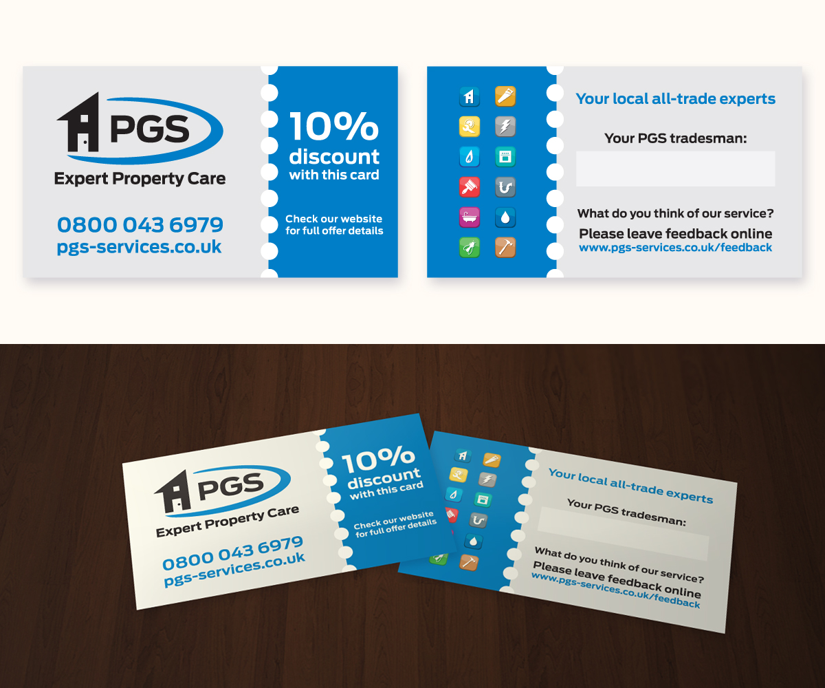 Business Card Design for PGS Services Ltd by Anthony | Design #3589467