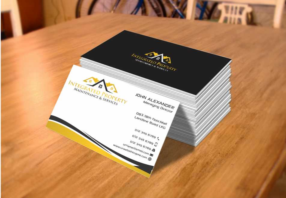 Professional elegant house business card design for for Property maintenance business cards