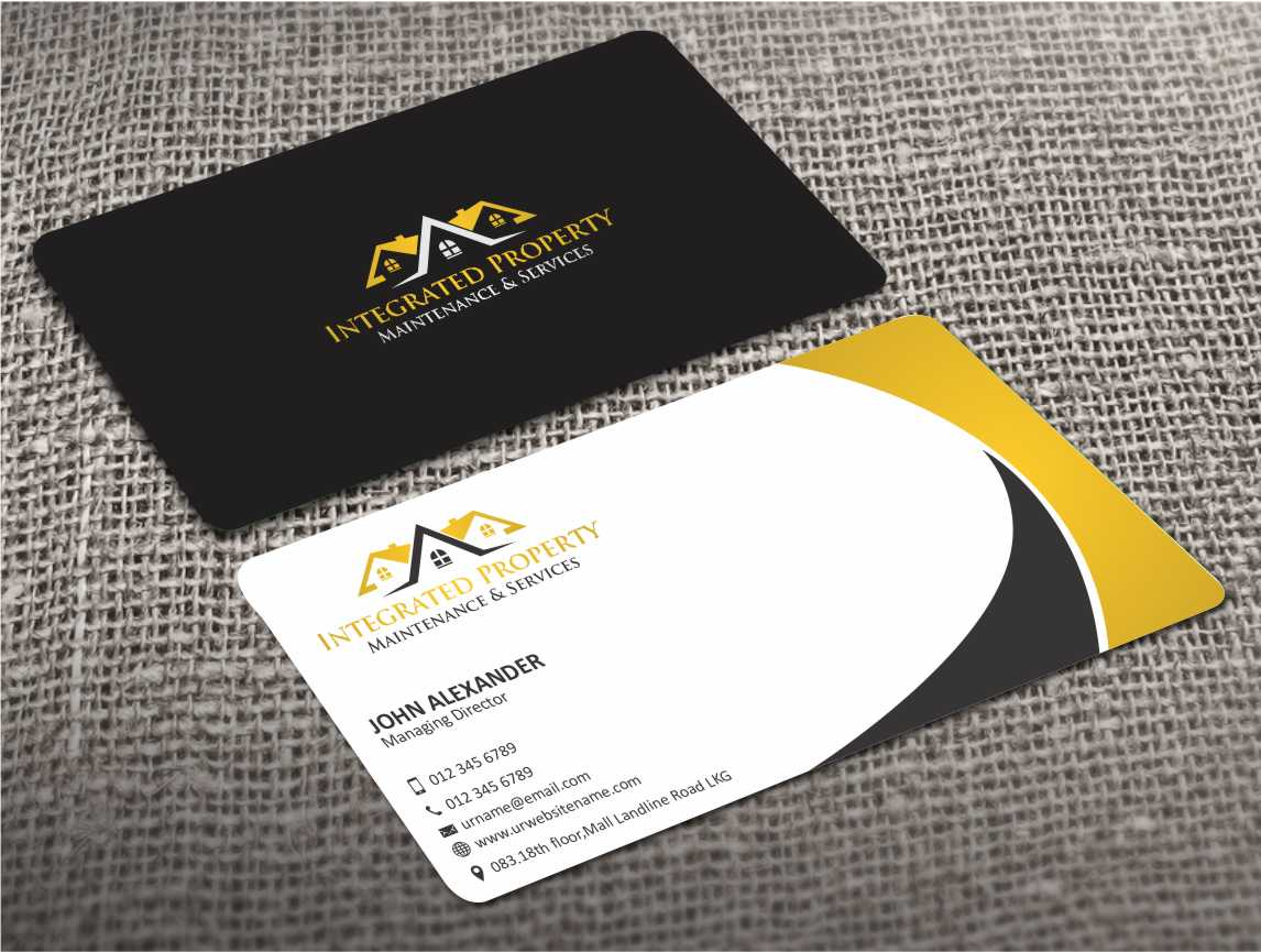15 professional business card designs house business card design business card design by zarnab for intergrated property maintenance and services design 3542102 reheart Image collections