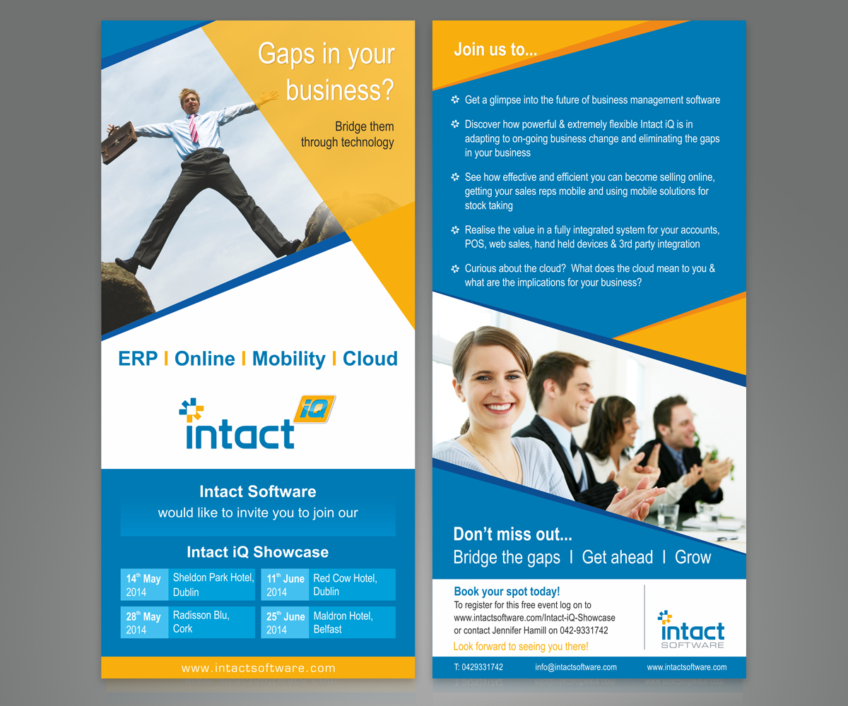 Modern Professional Business Flyer Design For Intact Software By Sreechand Design 3589594