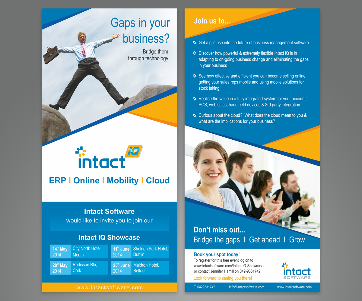 Modern professional business flyer design for intact for Company design