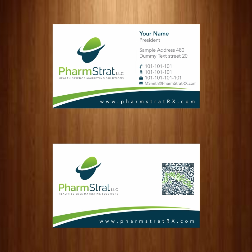 50 business card designs business business card design project for business card design by infinitedesign for pharmstrat llc design 3591318 reheart Images