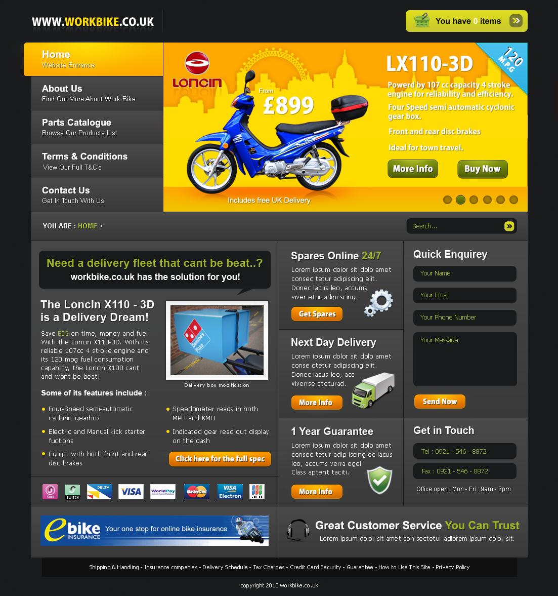 Professional masculine web design for j b imports by net for Masculine web design