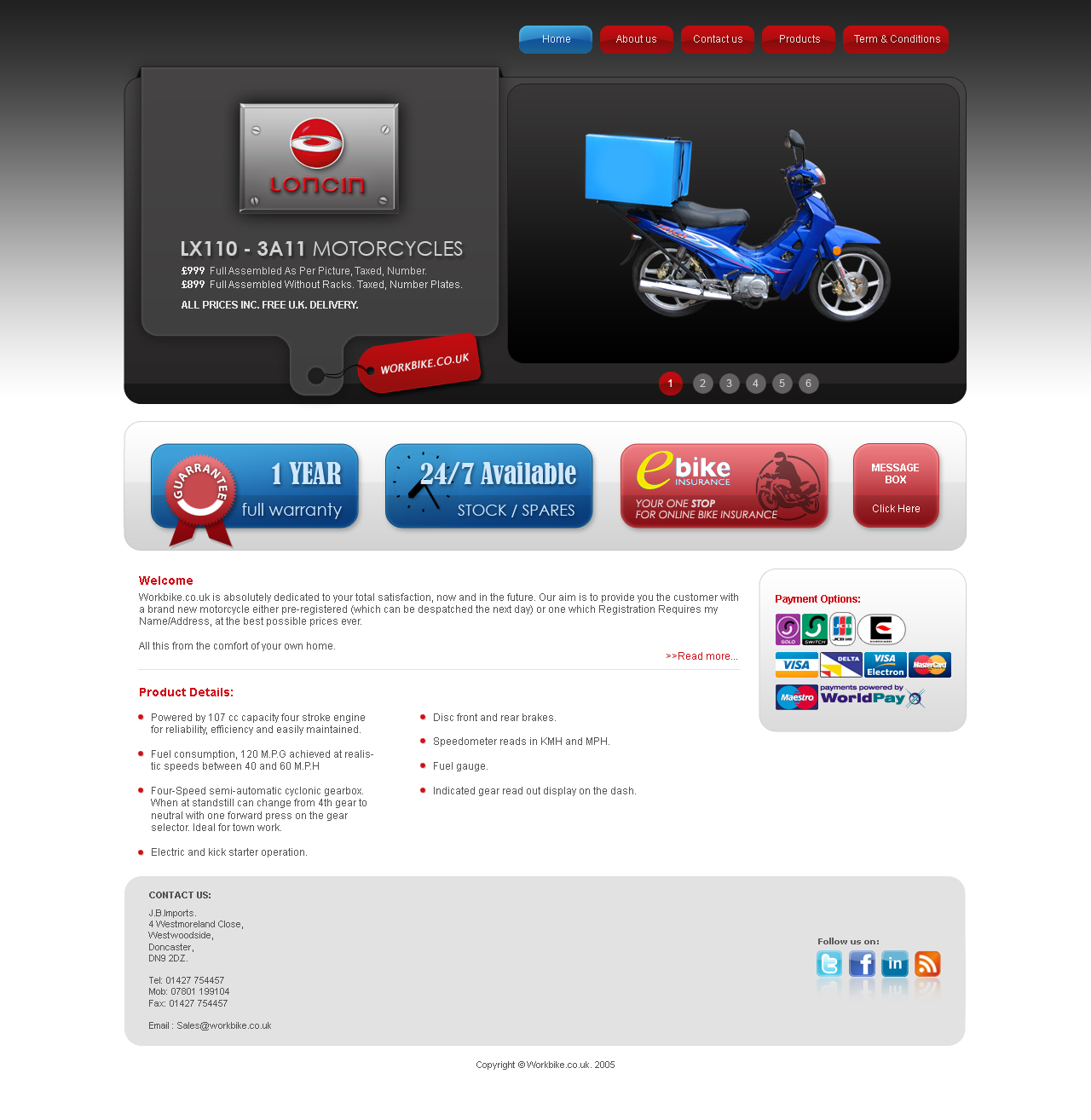 Professional masculine web design for j b imports by for Masculine web design
