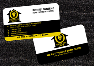 we buy houses business cards