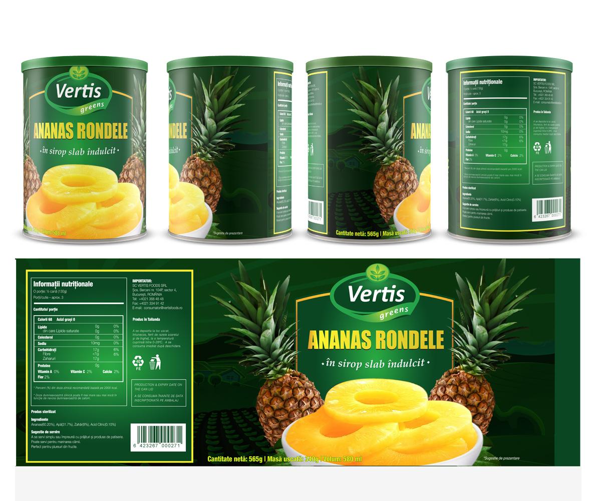 Canned Food Label Design