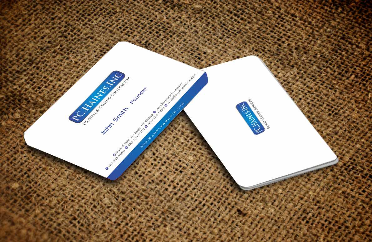 Business Card Design for PC Haines INC Drywall & Ceiling