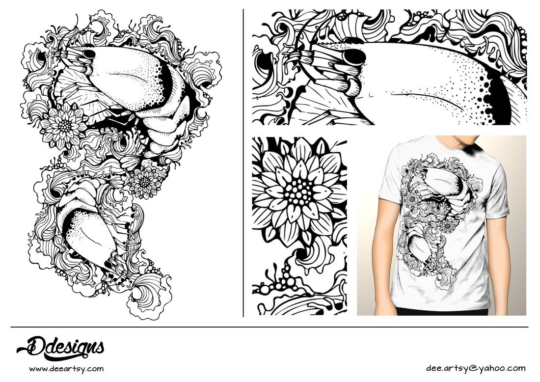 Design shirt japan - T Shirt Design Design 3586491 Submitted To Fan Shirt For Aquaristic Shrimp