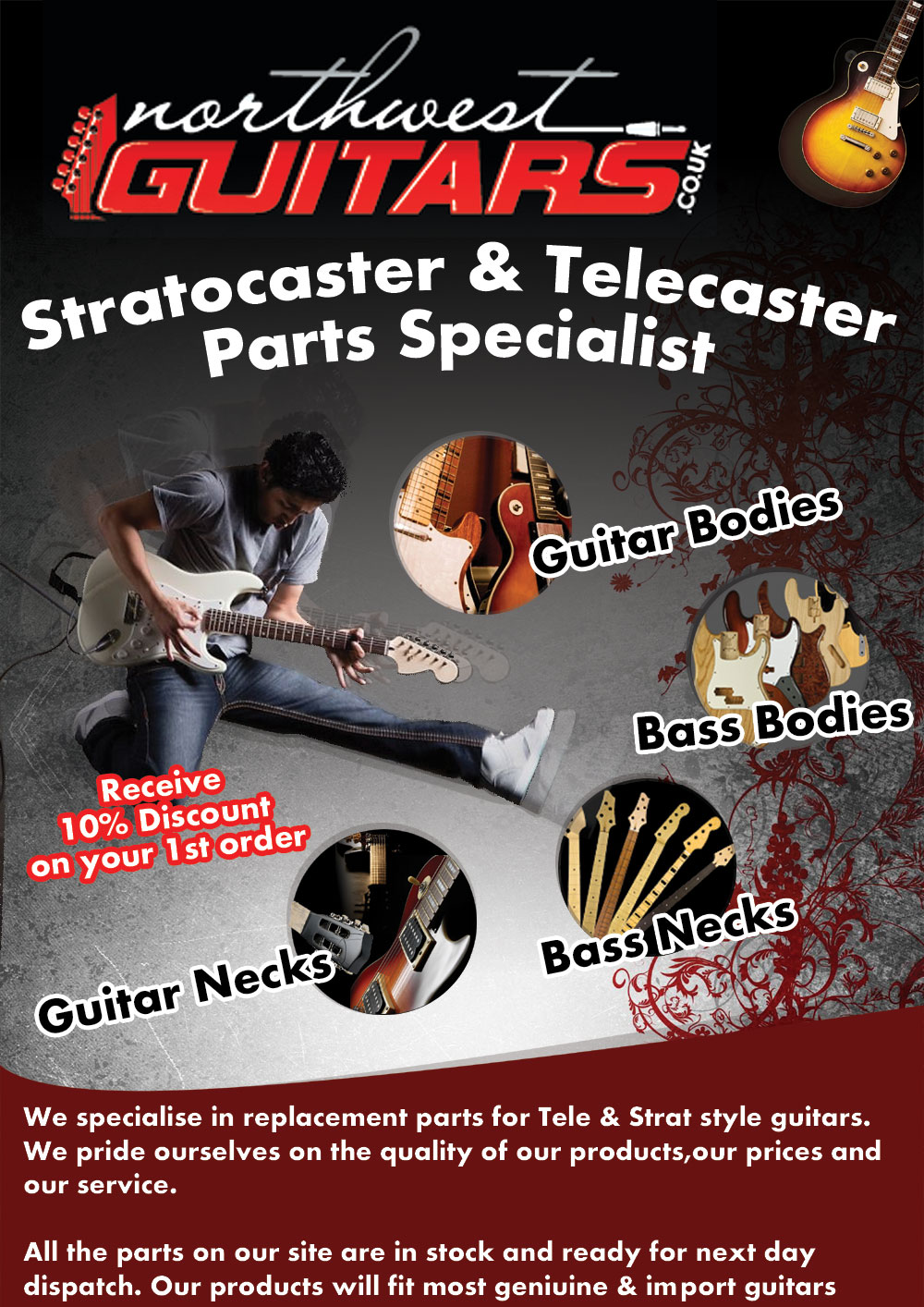 Parts of a poster design - Poster Design By Webwinner For Promo Poster For Guitar Parts Website May Need Photoshop Files