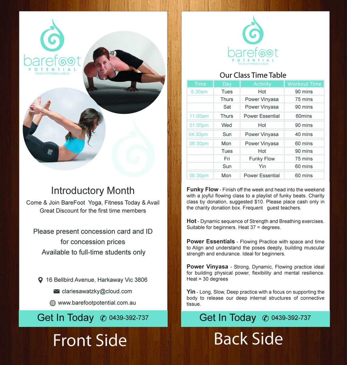 Flyer Design By Harmi 199 For Yoga Studio