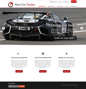 Web Design by pb - Race car follow-up website needs web design