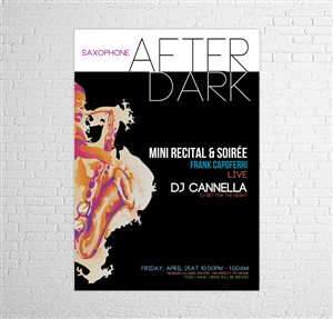 Poster Design by Phobos - Saxophone After Dark: mini recital & soiree