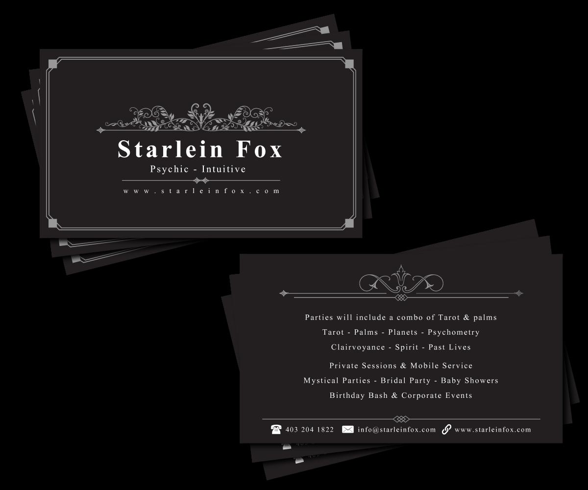 Fine Psychic Business Cards Crest - Business Card Ideas - etadam.info