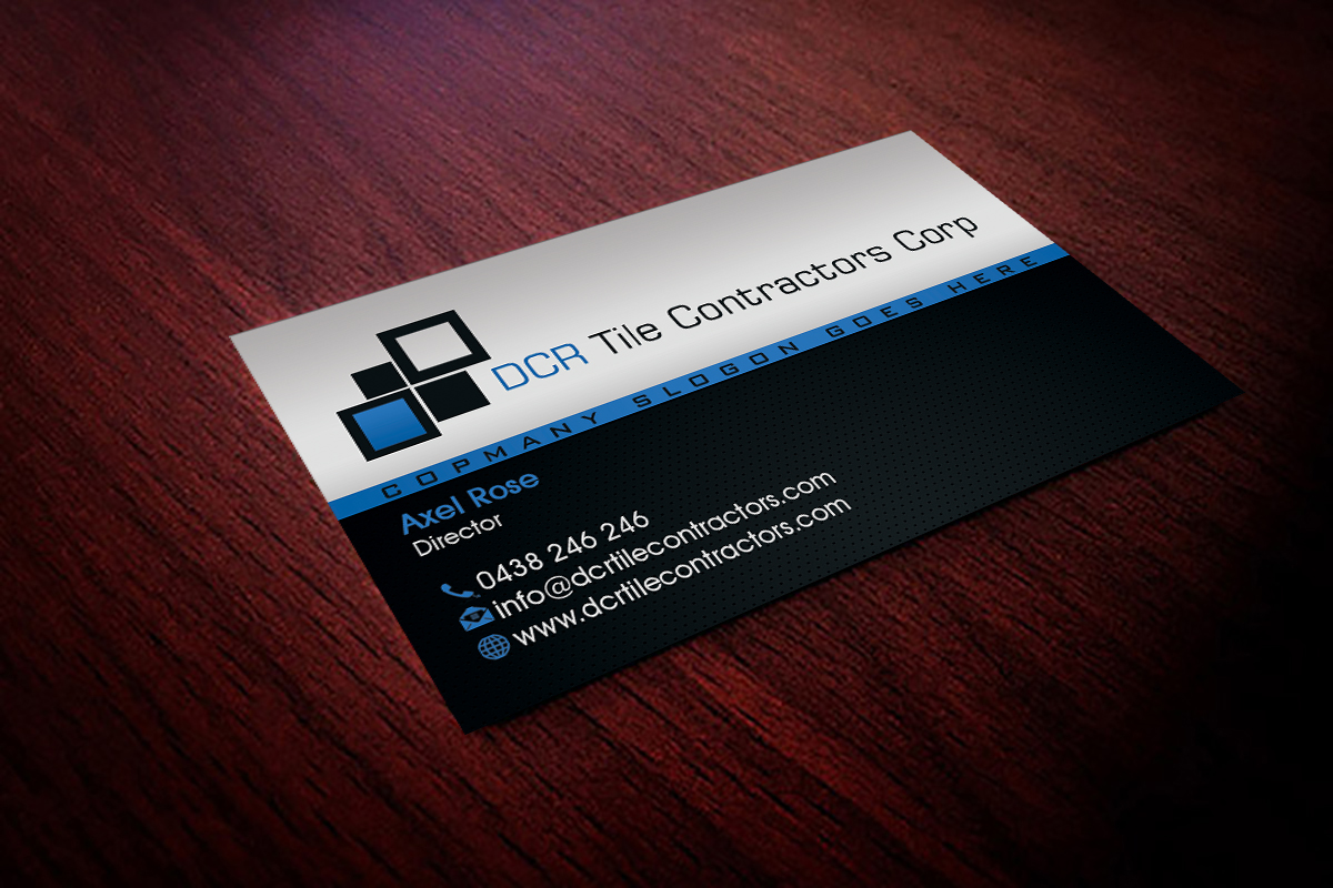 61 professional business card designs for a business in for Tiler business card