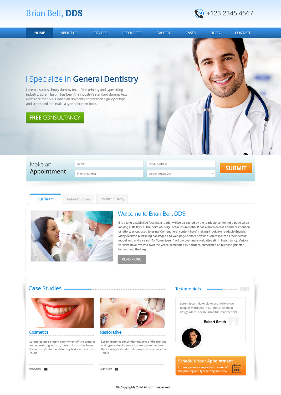 Web Design For Brian Bell Dds By Om Design 3624601