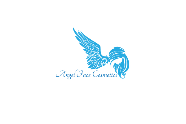 Cosmetics logo design for angel face cosmetics by sahank Angel logo design