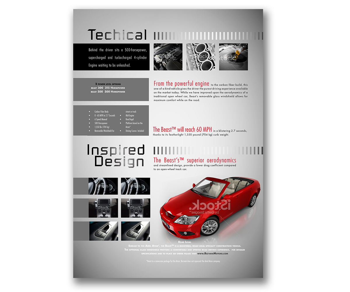 Online Brochure Design for Rezvani Motors by marcia2