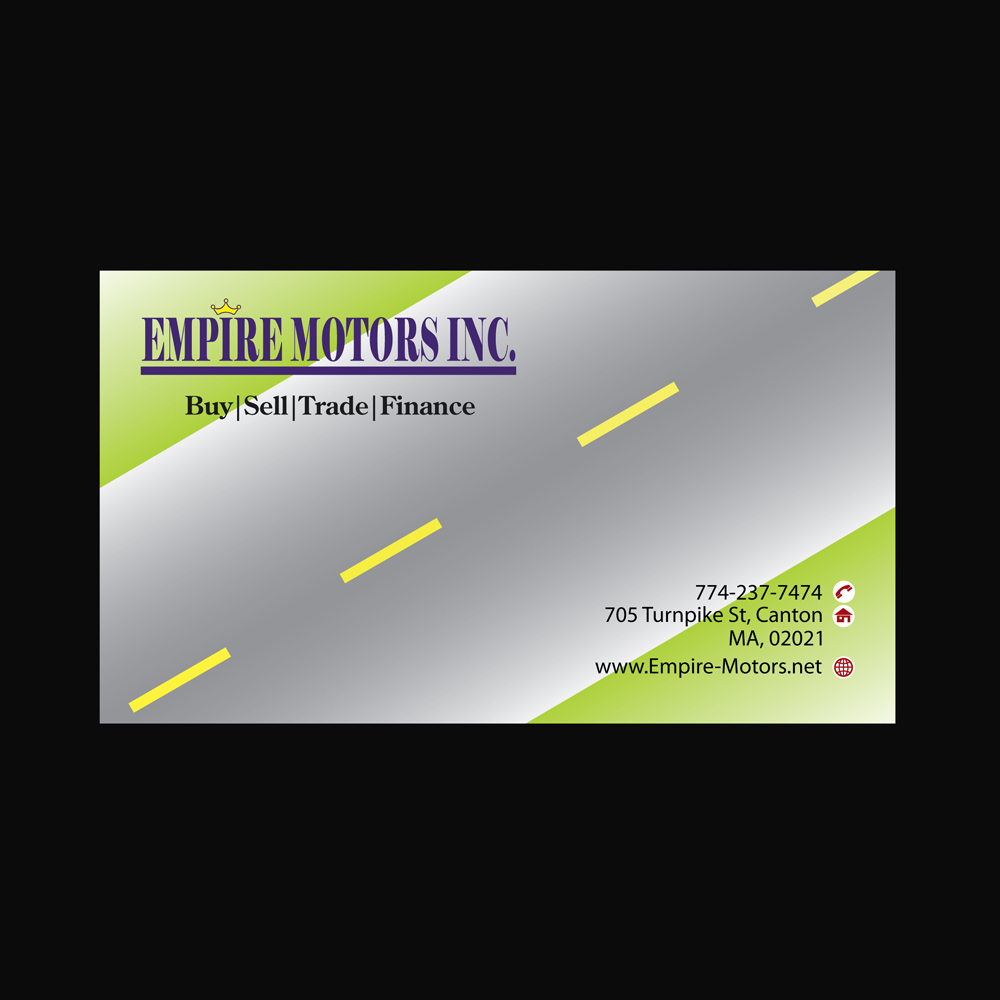 Empire Motors Canton Ma >> Serious Elegant Finance Business Card Design For A Company