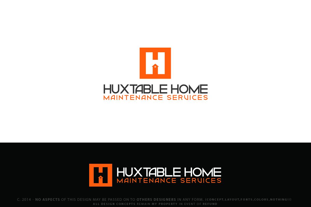 Building Logo Design For Hhms Huxtable Home Maintenance Services By Senseless Design 3593822