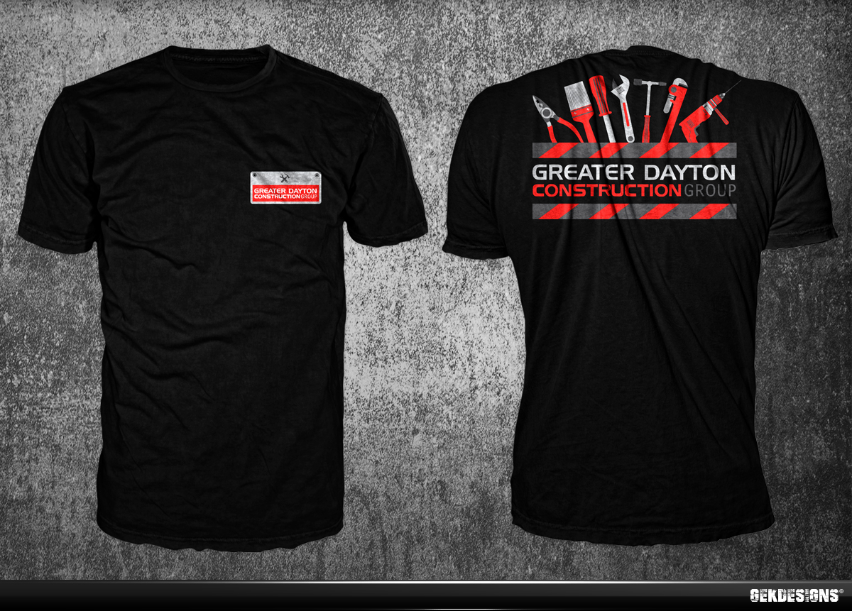 47 professional construction t shirt designs for a for Make t shirts for your business