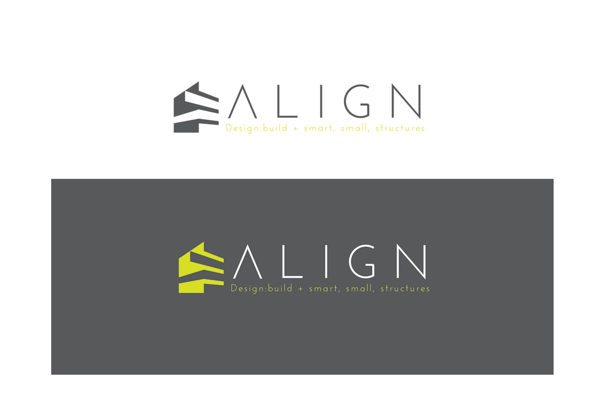 Modern serious logo design for align design build by for Modern house logo