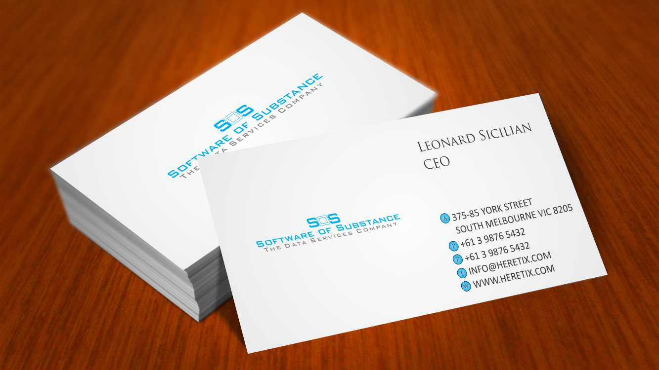 Playful, Feminine, Software Business Card Design for a Company by ...