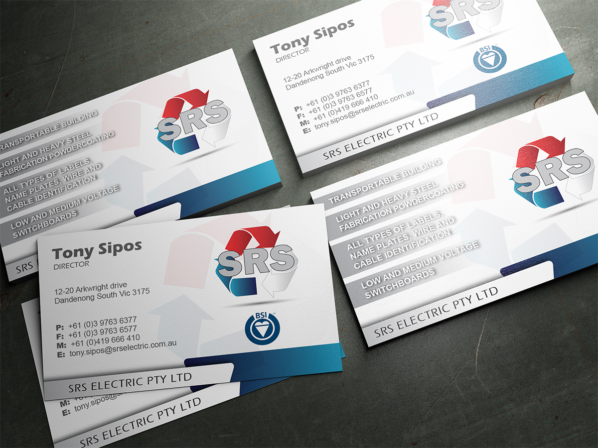 Business business card design for srs electric pty ltd by business business card design for srs electric pty ltd in australia design 3788545 reheart Choice Image