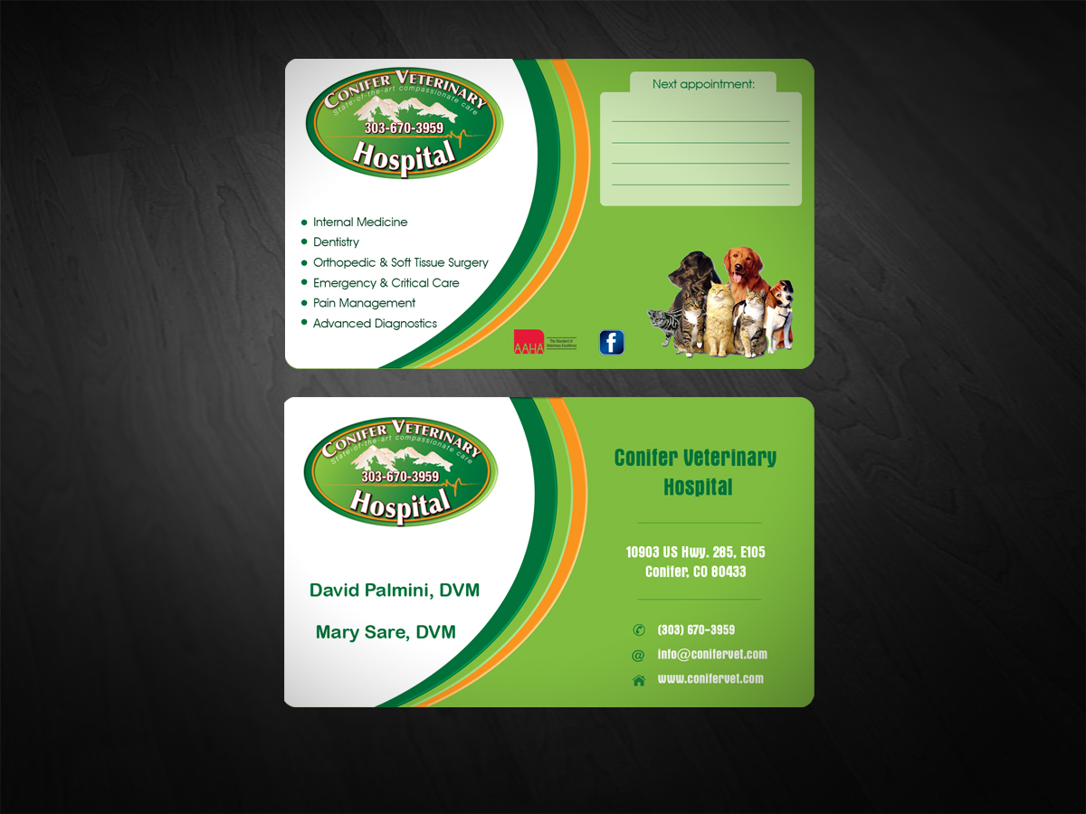 35 serious business card designs veterinary business card design business card design by scorpius design for conifer veterinary hospital design 1193078 colourmoves