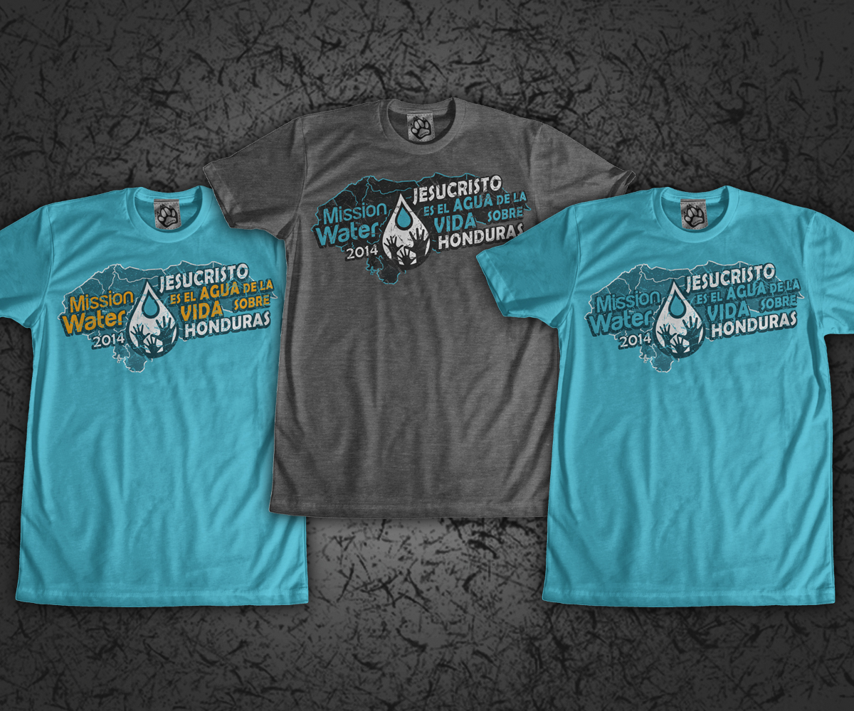 Non Profit T Shirt Design For Flood The Nations By Jd