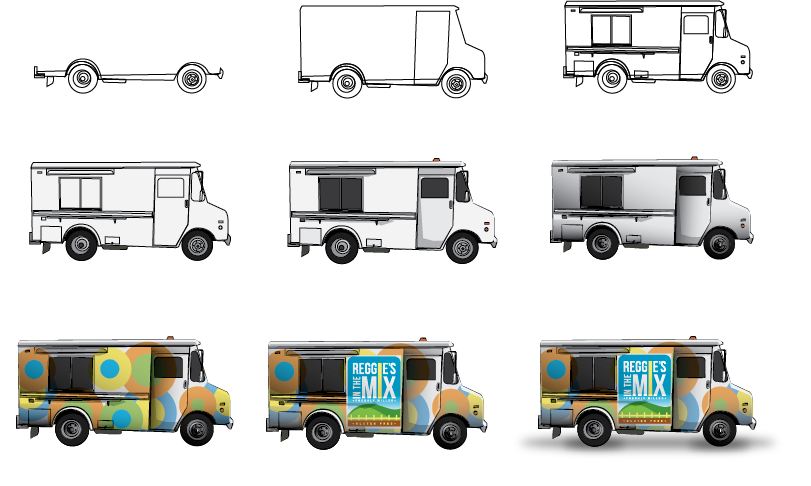 Playful bold business illustration design for a company for Design your food truck