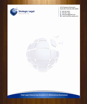 legal letterhead design by harmi_199 - Letterhead Design Ideas