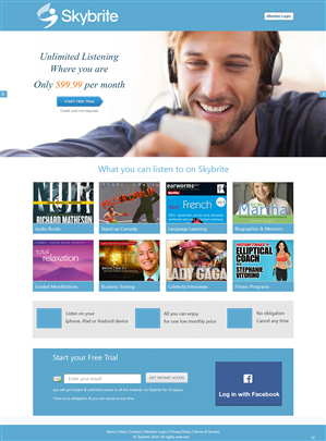 Web Design by pb - Web design for new streaming audio service