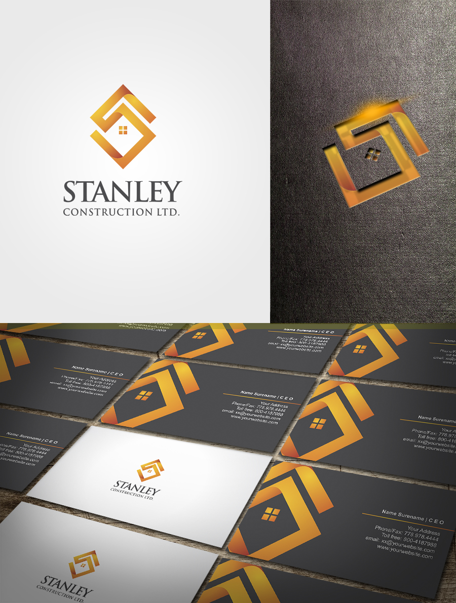 Serious modern construction logo design for stanley construction logo design by artsigma for this project design 3663699 colourmoves
