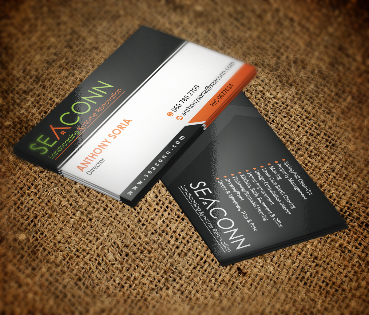 28 business card designs home improvement business card design business card design by mt for seaconn design 3728123 colourmoves