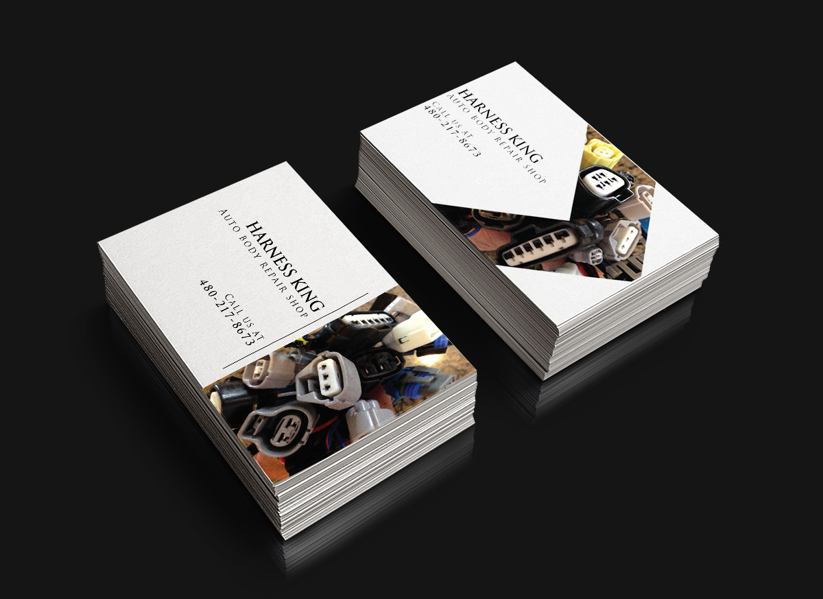 Bold modern automotive business card design for harness king by bold modern automotive business card design for harness king in united states design 3640500 reheart Image collections