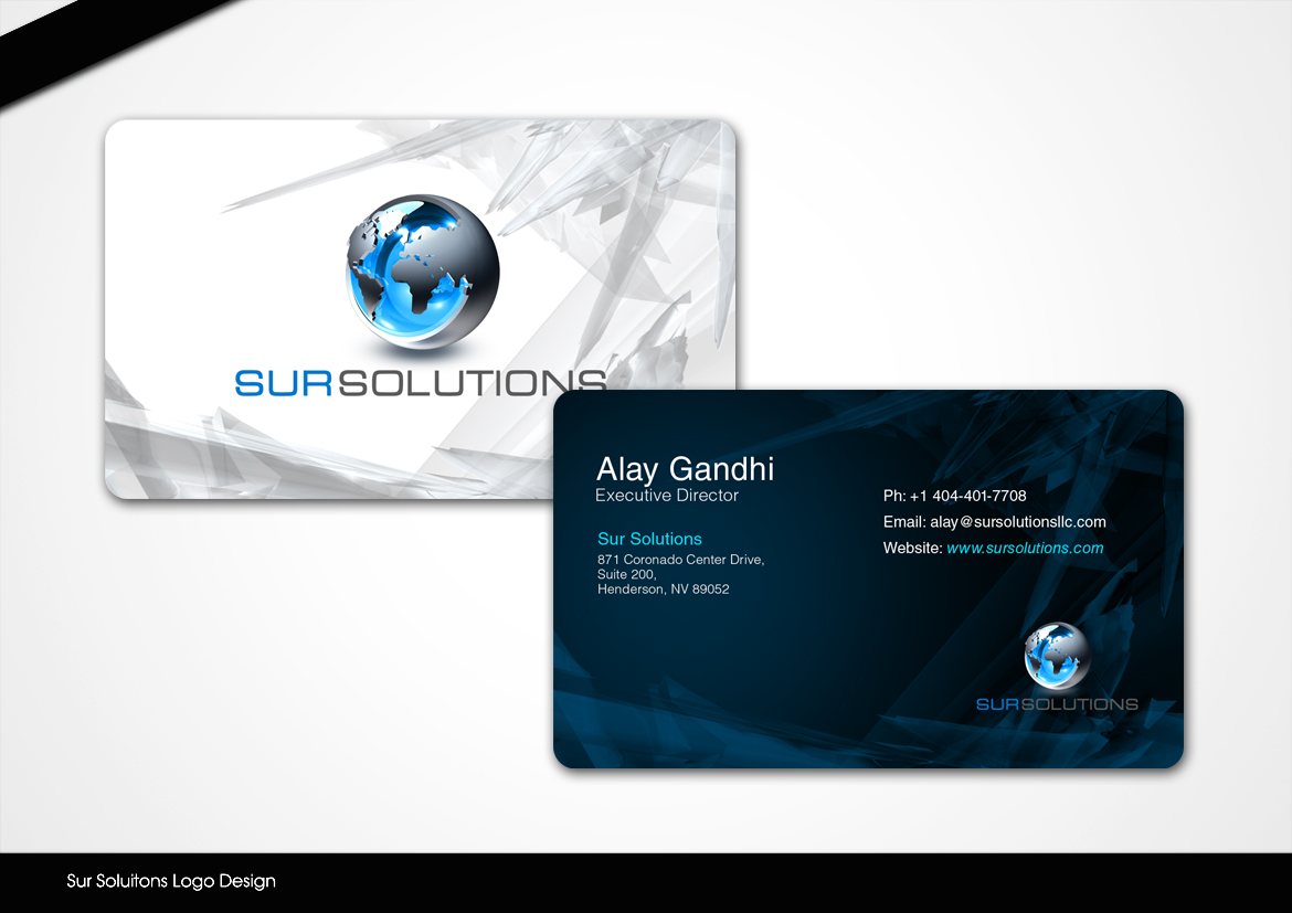 Business Business Card Design for Sur Solutions by disign | Design ...