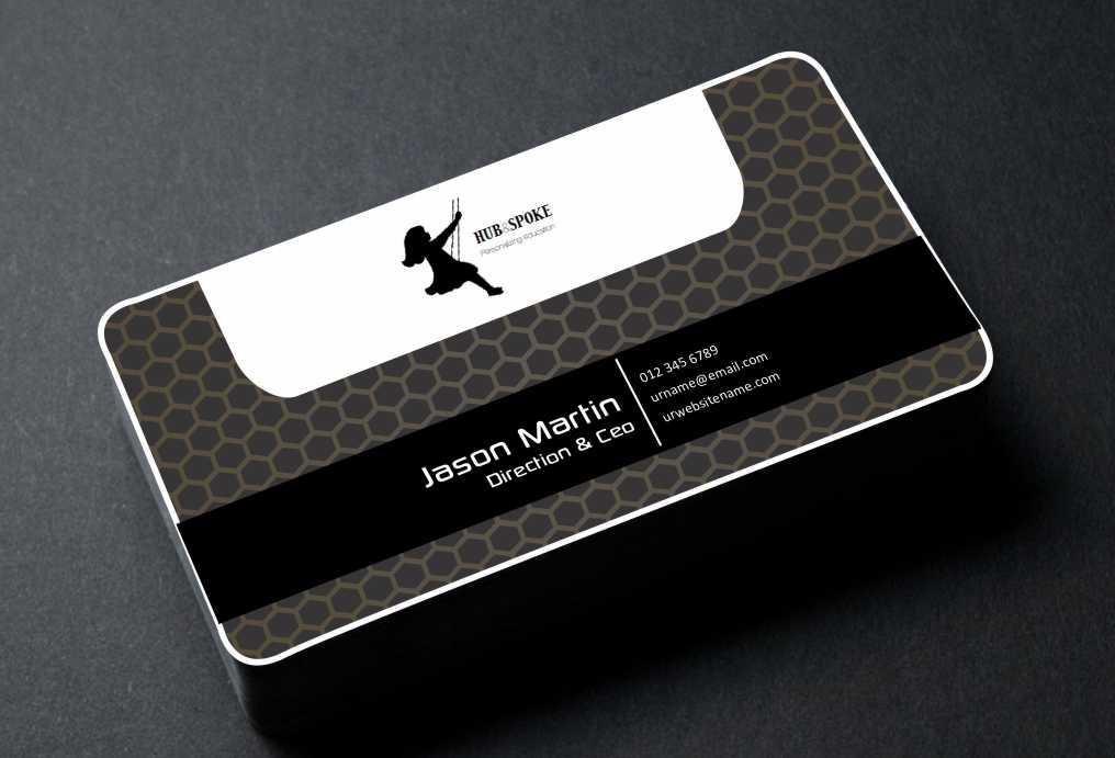 business card design for hubnspokeoutlook com by awsomed design